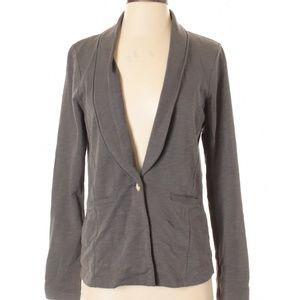 EUC Lilla P Gray Cotton Blazer - S